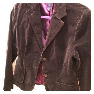 EUC Size 8 Gap Black Velvet Blazer